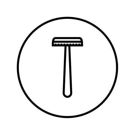 Shaver. Safety razor. Icon. Editable Thin line. Vector illustration.