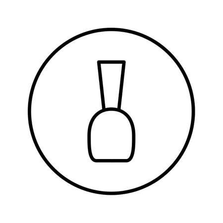 Nail polish. Icon. Editable Thin line. Vector illustration. Illusztráció