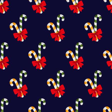 Lollipops. Christmas sweets. Pattern. Seamless vector illustration. Flat design style.