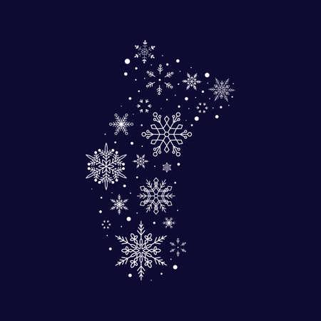 Snowflake sock. Christmas and New Year. Vector illustration. Flat design Illusztráció