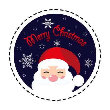 Merry Christmas. Santa Claus. Icon. Vector. Flat.