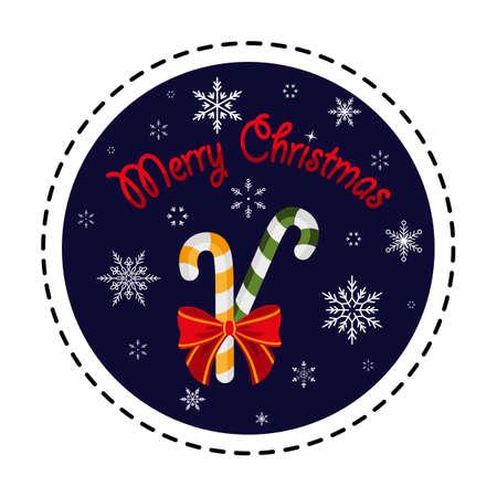 Lollipops. Christmas sweets. Merry Christmas. Vector illustration. Flat design