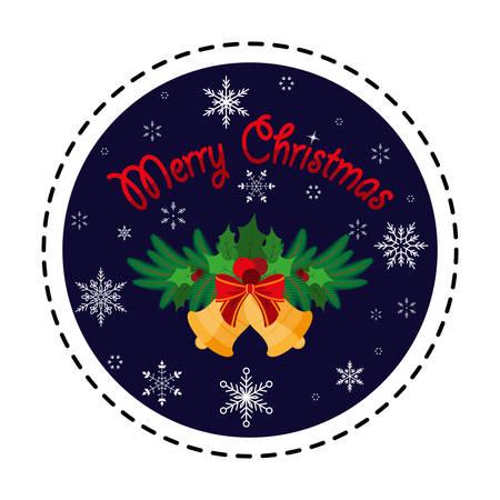 Christmas bells. Merry Christmas. Vector illustration. Flat design