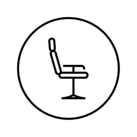 Barber chair. Universal icon . Editable Thin line. Vector illustration.