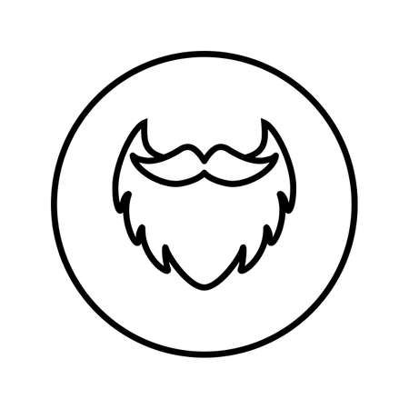 Beard with mustache. Barber Shop. Icon. Vector. Thin line