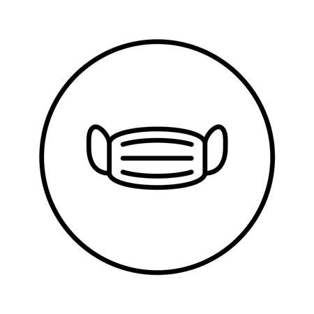 Medical mask. Universal Icon. Vector. Thin line.