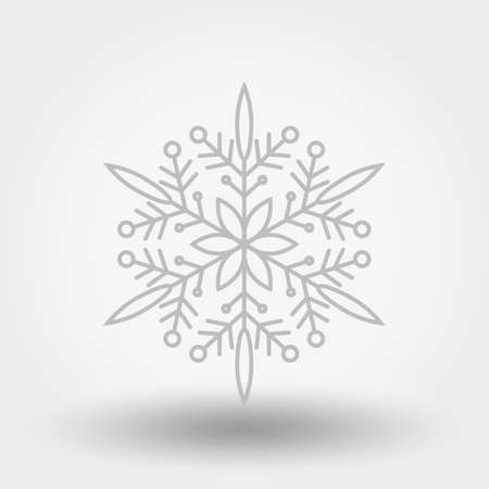 Snowflake. Icon. Christmas and New Year. Vector illustration. Flat design Illustration