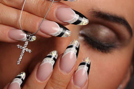 young girl with a nice manicure Stock Photo - 7802545