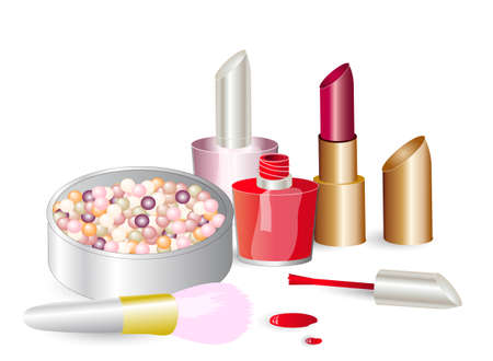 Makeup products Stock Vector - 13187763