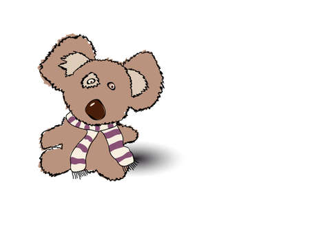 child s: A rough, painterly child s teddy bear