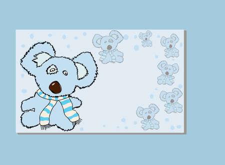 A rough, painterly child s teddy bear  Stock Vector - 13251596