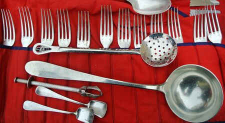 silver cutlery and ancient September