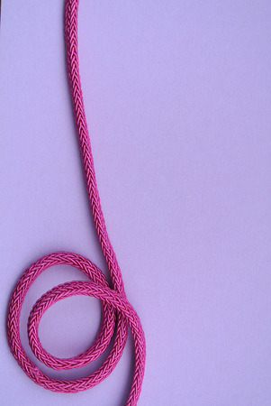 the cord: pink cord Stock Photo