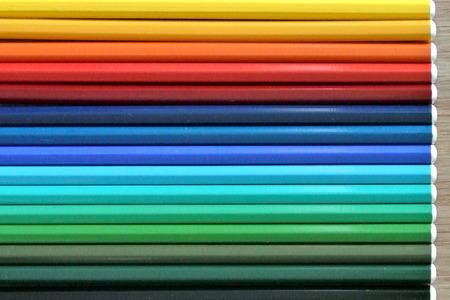 rigidity: colored pencils Stock Photo