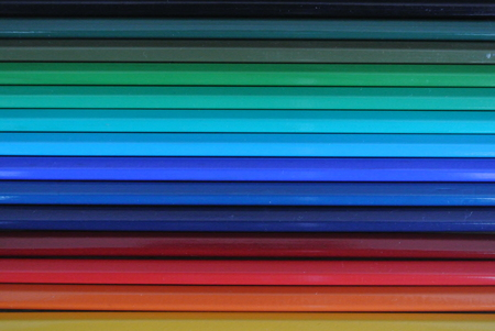rigidity: colored pencils Stock Photo