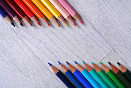 composition: colored pencils composition Stock Photo