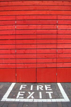 exit: fire exit