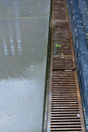discontinuity: drainage grates