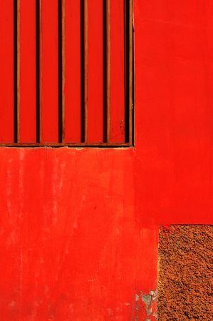 red wall: red wall Stock Photo