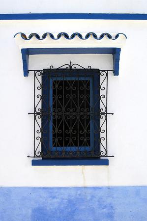 gratings: blue building windows Rabat