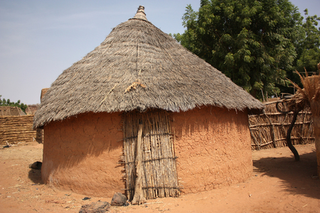 African village huts