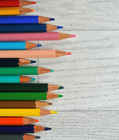 indication: colored pencils Stock Photo