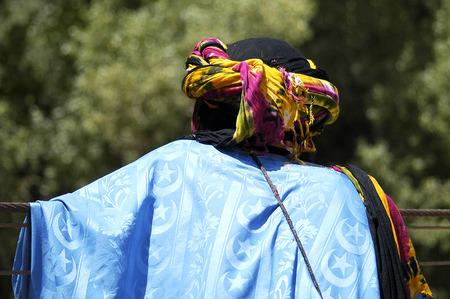 Tuareg customs background. Stock Photo