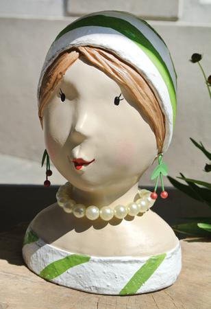 statue of a women's face Banque d'images