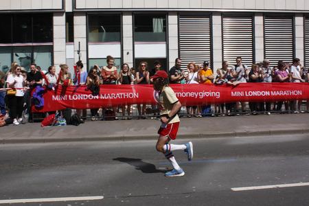London,uk. 21 April 2018 Runner of the London Marathon