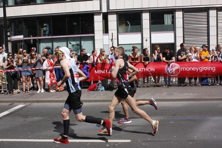 London,uk. 21 April 2018: Runner of the London Marathon Editorial