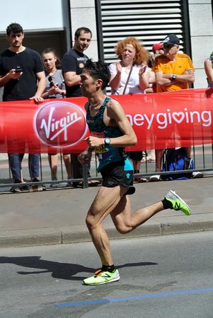 London,uk. 21 April 2018: Rrunner of the London Marathon