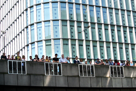 London,uk. 21 April 2018: The London Marathon fans