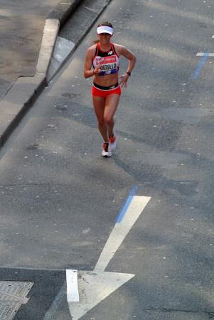 London,uk. 21 April 2018: Elite runner of the London Marathon