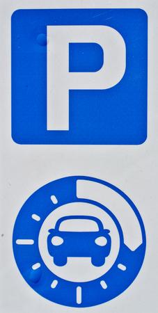 indication of time parking Фото со стока