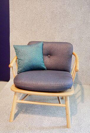 the modern design fabric chair Foto de archivo
