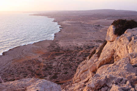 View from the cliff at the top of Cape Cavo Greco (Capo Greco). Cyprus.