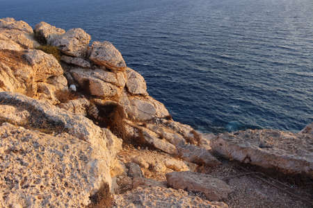 View from Cape Cavo Greco (Capo Greco) on the rocks and the sea. Cyprus.