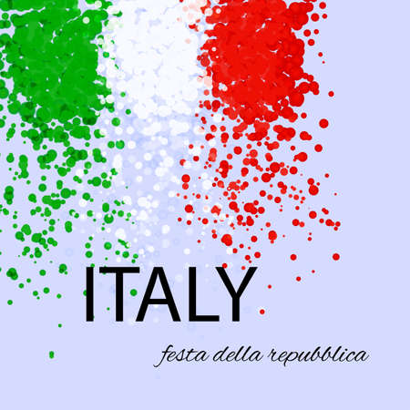 Print Italian Republic Day
