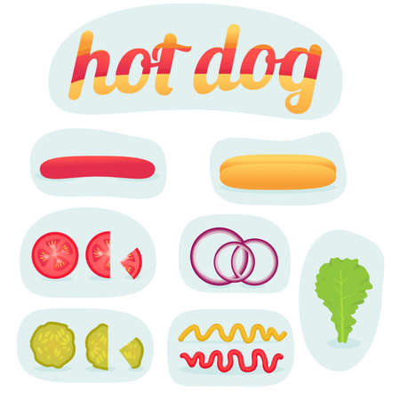 Print hot dog in parts