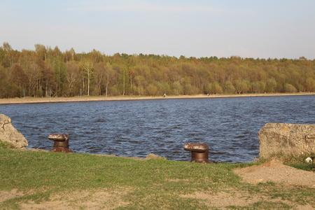 lake and pier Archivio Fotografico