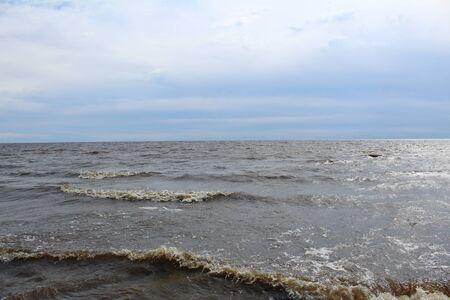 huge lake with waves