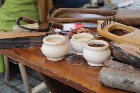 old creative workshop for making musical instruments Фото со стока