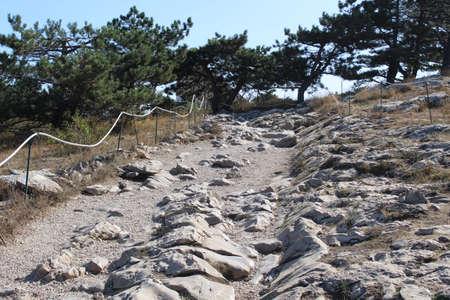 stony ascent to the mountain Ai Petri in the Crimea