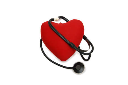 stethoscope wrapped around the heart Stock Photo - 15746375
