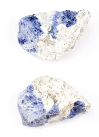 sodalite: Raw sodalite on a white background.
