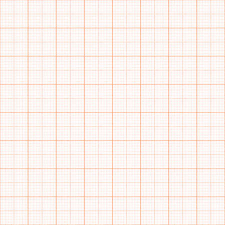 Texture of orange graph paper. Seamless drawing background Stockfoto