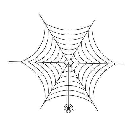 Illustration with spider web.
