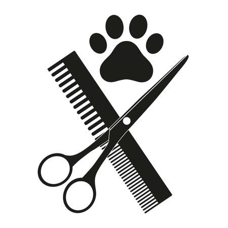 Emblem of a shearing animal. Illustration