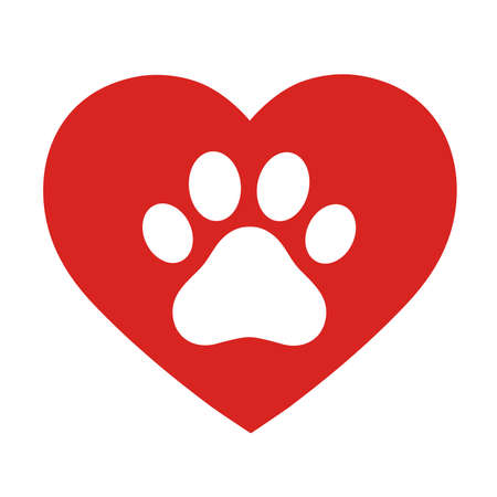 The dog's track in the heart