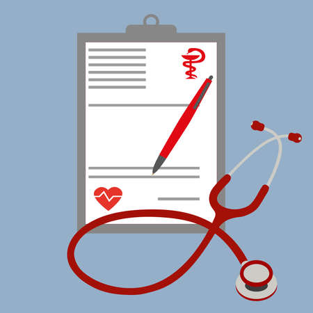 Prescription doctor with a stethoscope Illustration